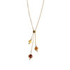 Gold plated necklace with baltic amber