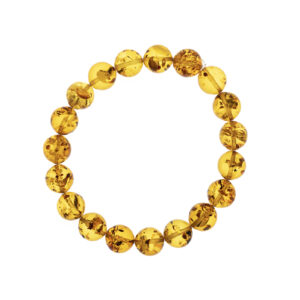 Elastic bracelet made of cognac amber 10 mm