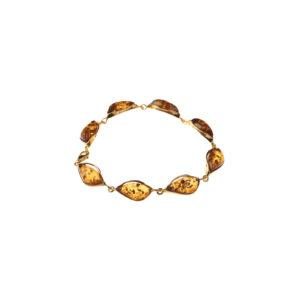 Classy bracelet with cognac amber